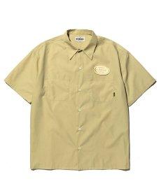 画像1: CALEE / T/C Broad S/S work shirt -Lt Yellow- (1)