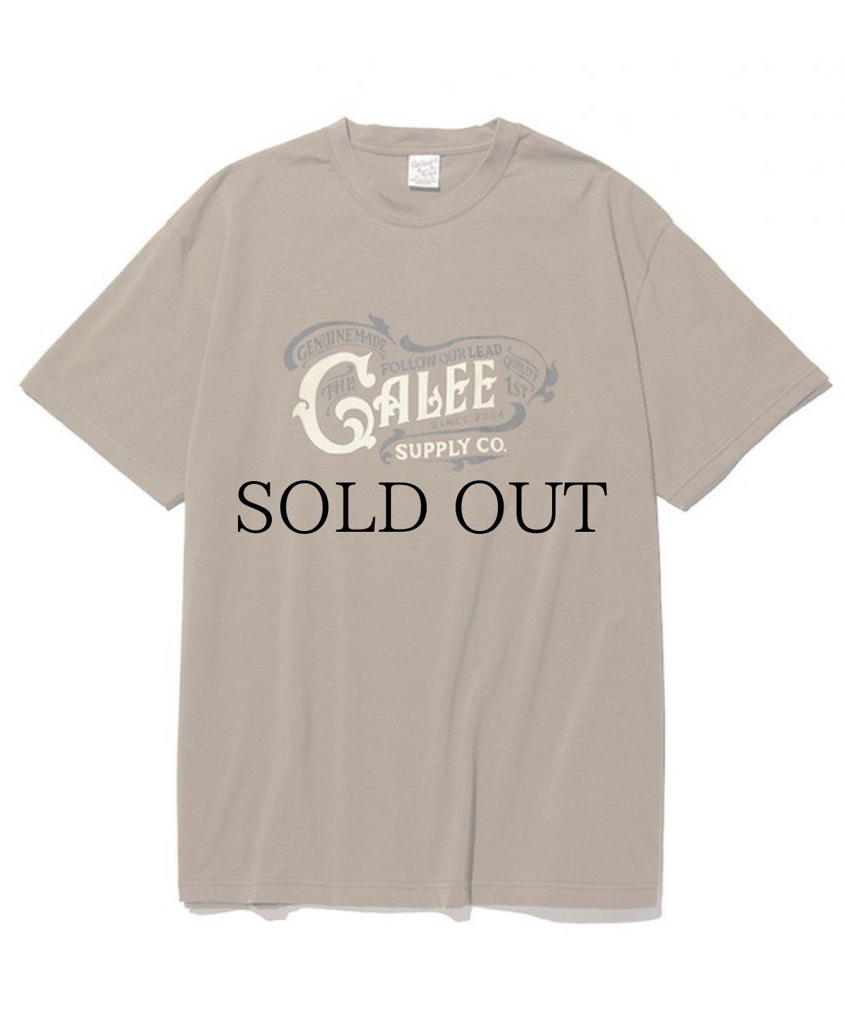 画像1: CALEE / Main logo t-shirt -OLIVE- (1)