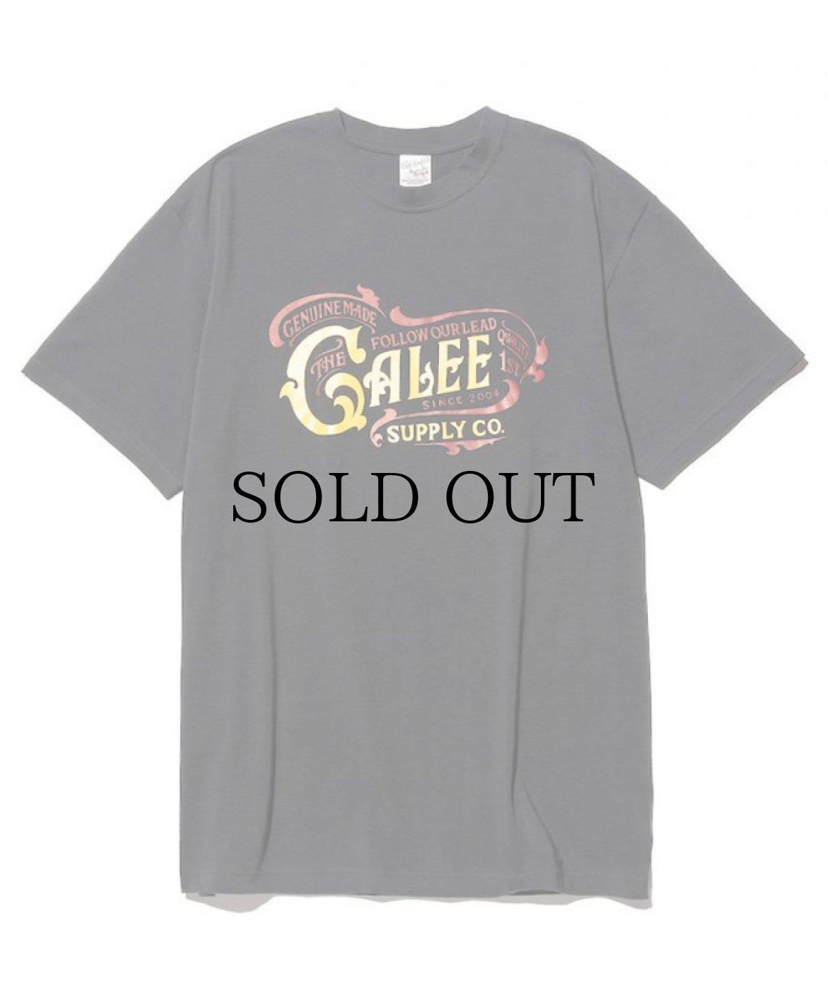 画像1: CALEE / Main logo t-shirt -CHARCOAL- (1)