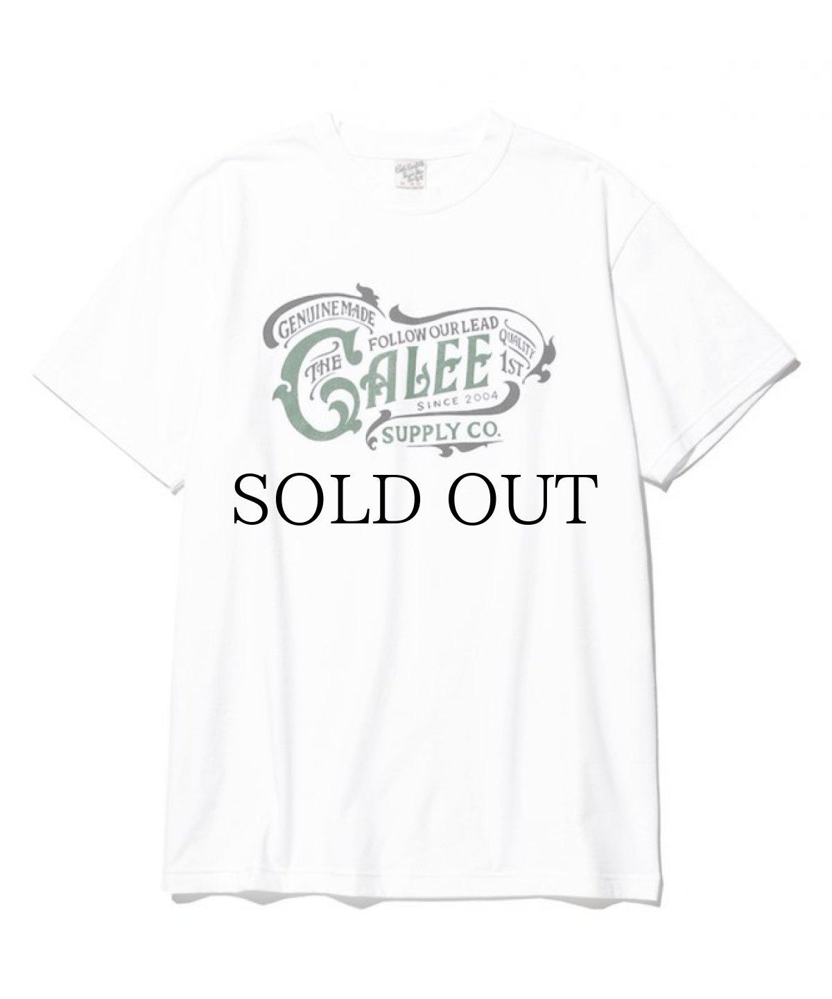 画像1: CALEE / Main logo t-shirt -WHITE- (1)