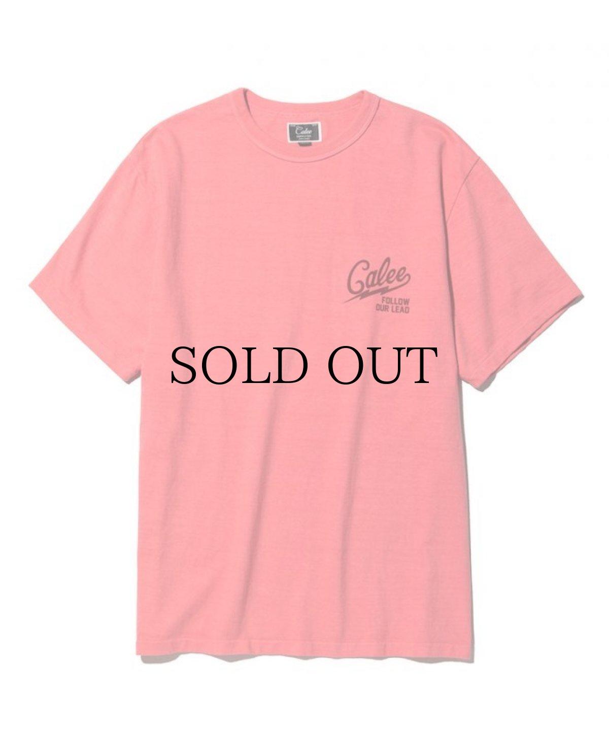 画像1: CALEE / Binder neck color t-shirt -PINK- (1)
