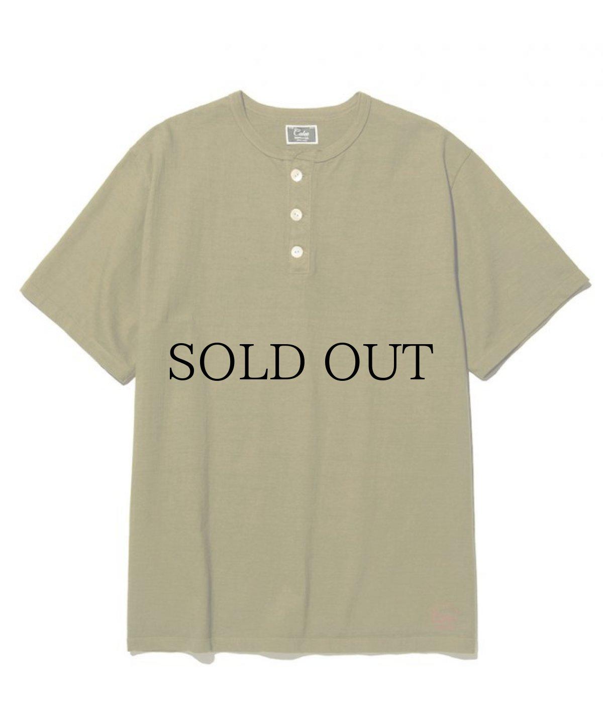 画像1: CALEE / Henley neck t-shirt -OLIVE- (1)
