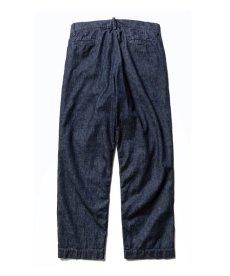 画像2: CALEE / More yarn denim trouser -INDIGOBLUE- (2)