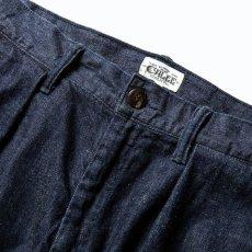 画像3: CALEE / More yarn denim trouser -INDIGOBLUE- (3)