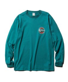 画像2: CALEE / Sign board print L/S t-shirt -EMERALD GREEN- (2)