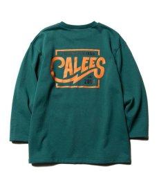 画像1: CALEE / 3/4 Set in sleeve sweat -EMERALD GREEN- (1)