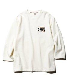 画像2: CALEE / 3/4 Set in sleeve sweat -WHITE- (2)