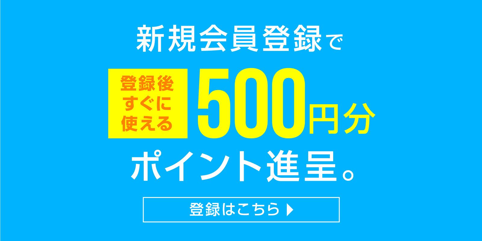 500円分ポイント進呈