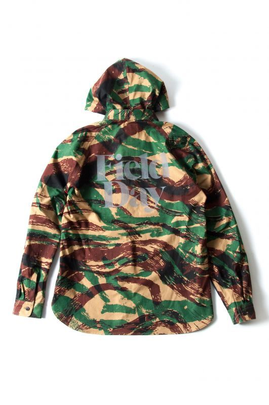画像2: 【PREDAWN】 CAMO HOODED SHIRT
