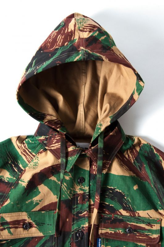 画像3: 【PREDAWN】 CAMO HOODED SHIRT