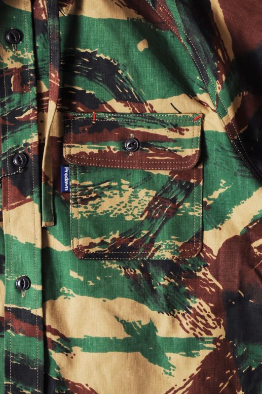 画像5: 【PREDAWN】 CAMO HOODED SHIRT