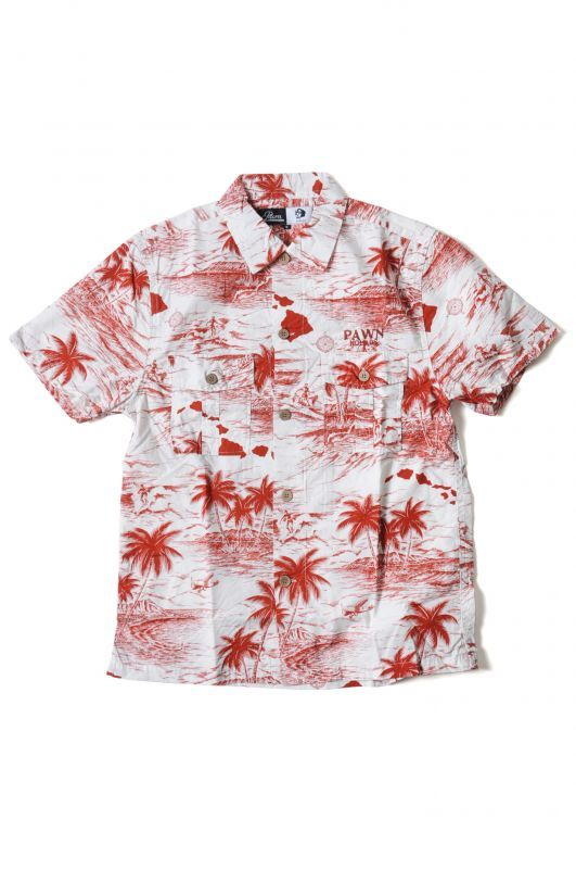 画像1: 【PAWN】 PALM TREE PAWN SHIRT
