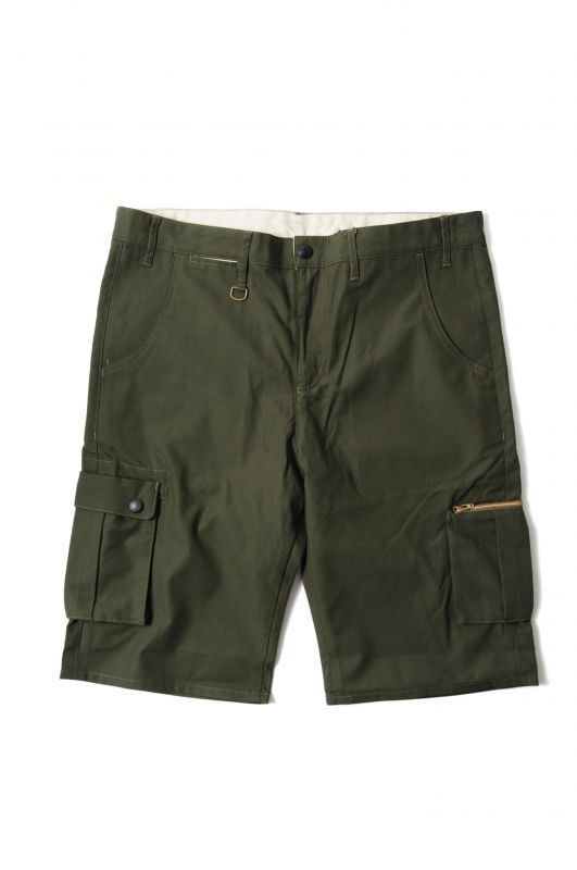 画像1: 【PREDAWN】 WASHED ARMY SHORTS (1)