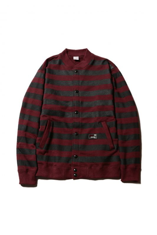 画像1: 【CUTRATE】 SWEAT BORDER CARDIGAN (1)