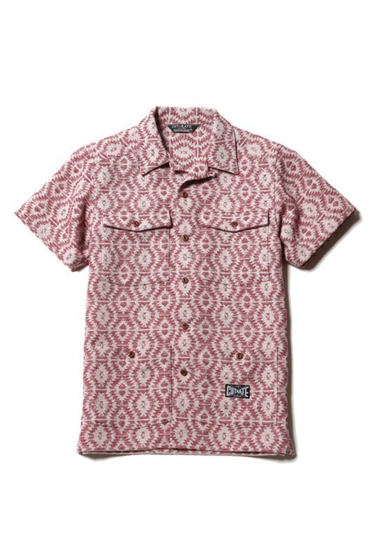 画像1: 【CUTRATE】 S/S NATIVE PATTERN SHIRT (1)