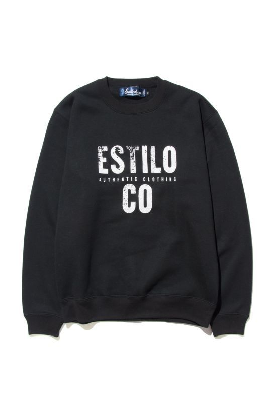画像1: 【Estilo&co.】 GRUNGE LOGO CREW NECK SWEAT