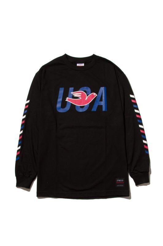 画像1: 【JT&CO】USA L/S TEE (1)