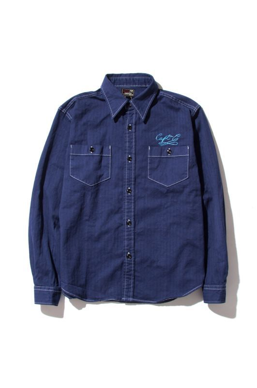 画像1: 【CUTRATE】 L/S HERRINGBONE WORK SHIRT (1)