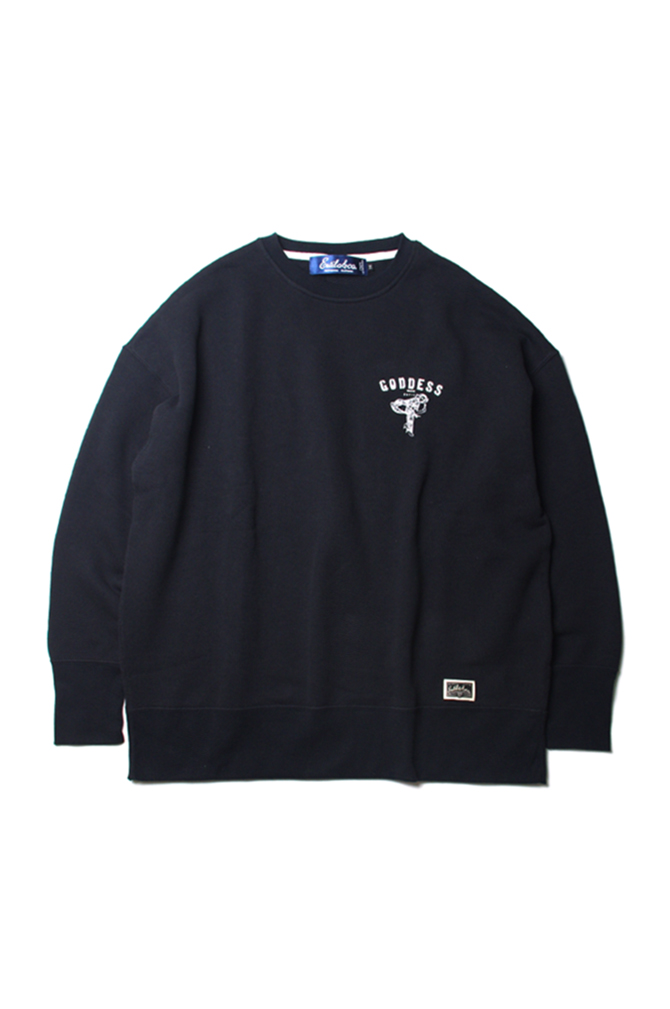 画像1: 【Estilo&co.】GODDES WIDE CREWNECK SWEAT