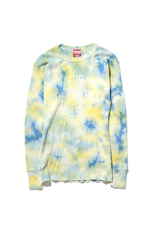 画像1: 【HIDEANDSEEK】 Tiedye Thermal L/S Shirt (1)