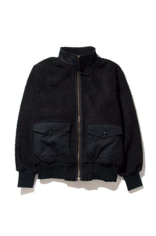 画像1: 【HIDEANDSEEK】Boa Fleece Zip JKT (1)