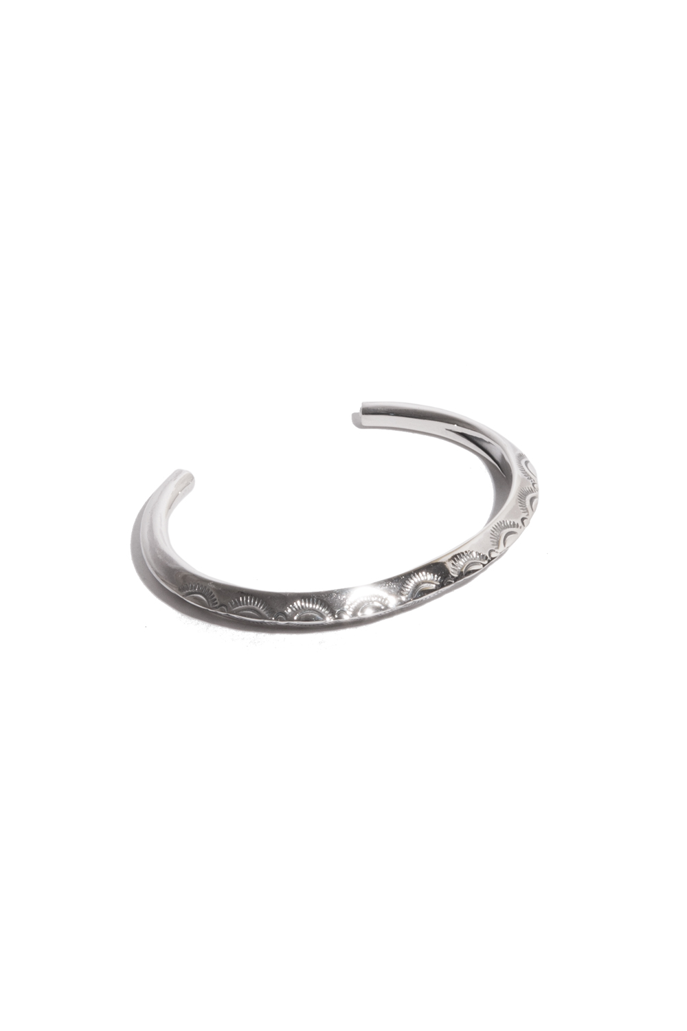 画像1: 【LARRY SMITH】 THIN TRIANGLE BANGLE LEAF (LADY'S)