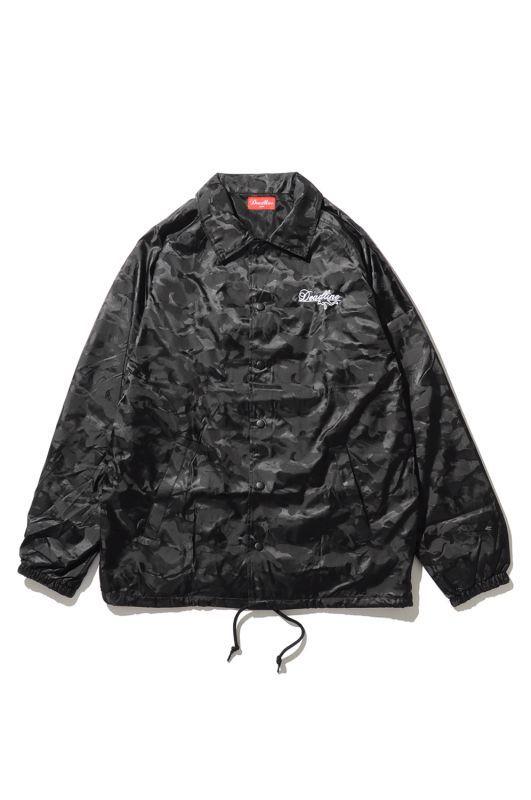 画像1: 【DEADLINE】Script Logo Embroidered Camo Coach Jacket