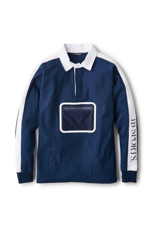 画像1: 【INTERBREED】Tech Rugby Shirt (1)