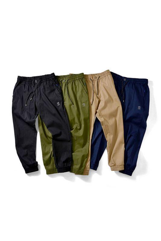 画像1: 【LAFAYETTE】BASIC COTTON STRETCH JOGGER PANTS
