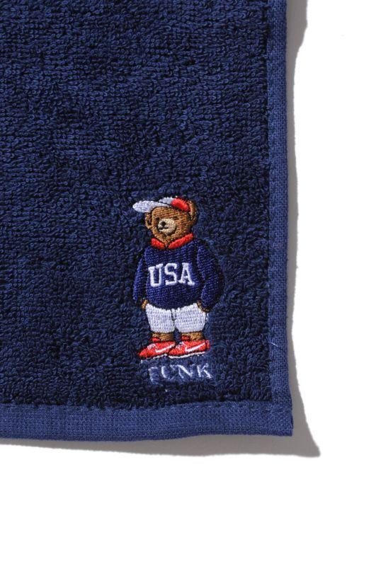 画像3: 【INTERBREED】USA Bear Embroidered Hand Towel