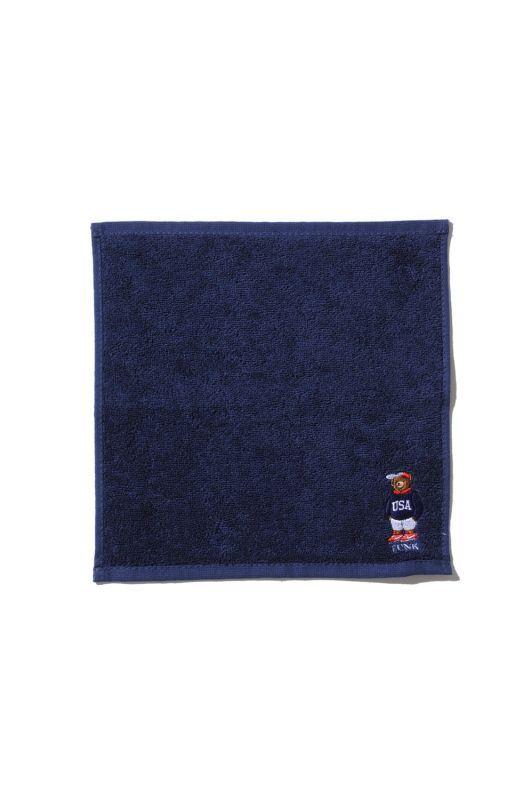 画像2: 【INTERBREED】USA Bear Embroidered Hand Towel