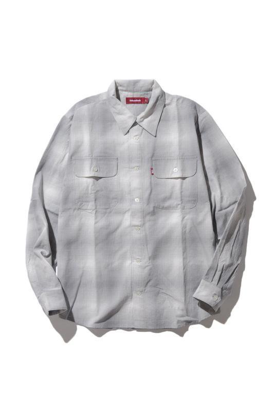 画像1: 【HIDEANDSEEK】Ombre Check L/S Shirts