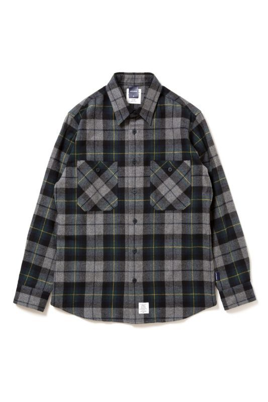 画像1: 【APPLEBUM】Top Shaggy Check Nel Shirt (1)