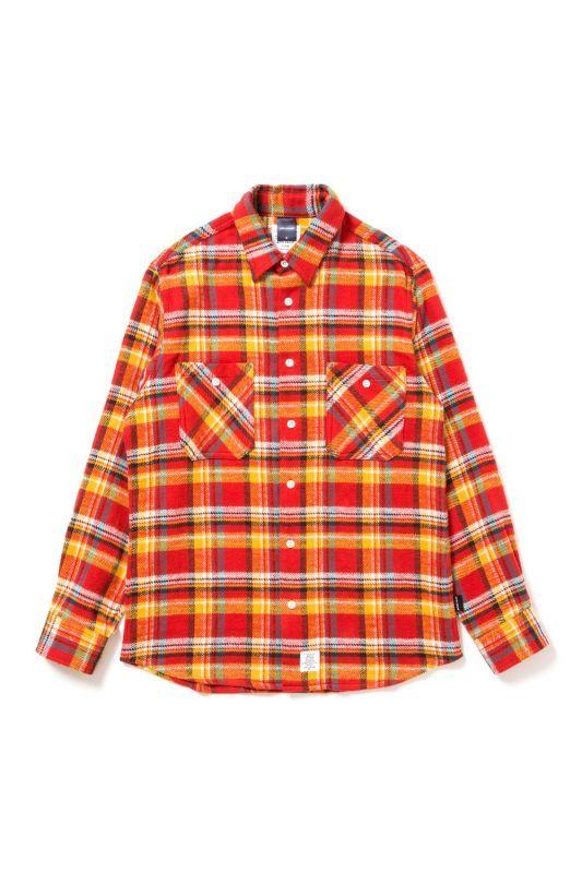画像1: APPLEBUM / Orange Check Nel Shirt (1)