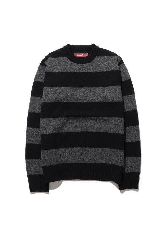 画像1: 【HIDEANDSEEK】Wool Border L/S Knit (1)