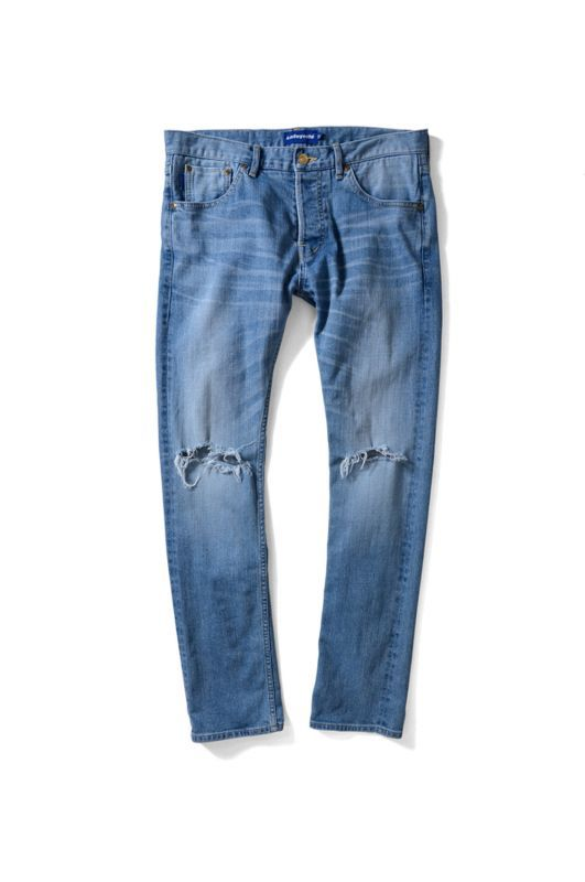 画像1: 【LAFAYETTE】5 POCKET SELVAGE STRETCH WASHED DENIM PANTS – SLIM FIT