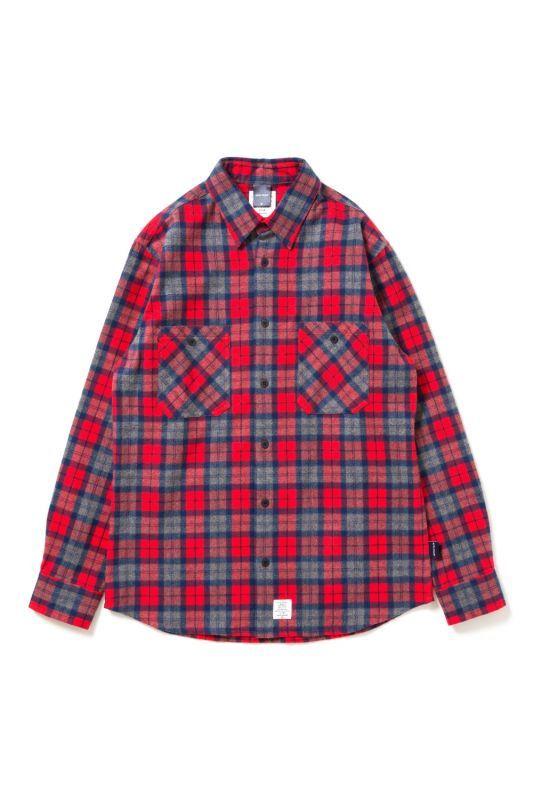 画像1: 【APPLEBUM】Shaggy Check Nel Shirt