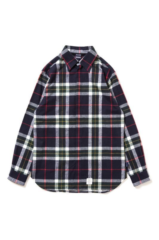 画像1: 【APPLEBUM】Big Check Nel Fly Front Shirt