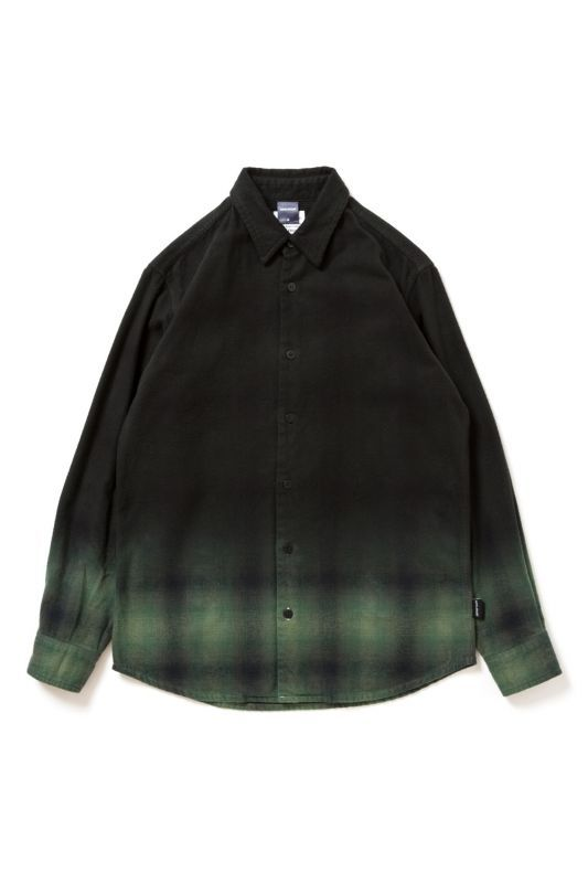 画像1: 【APPLEBUM】Black Dye Check Shirt
