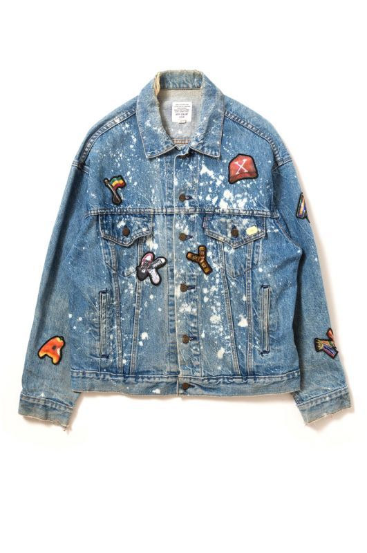 "画像1: 【APPLEBUM】PLAY for APPLEBUM ""CRASH"" Alphabet Damage Denim Jacket (1)"