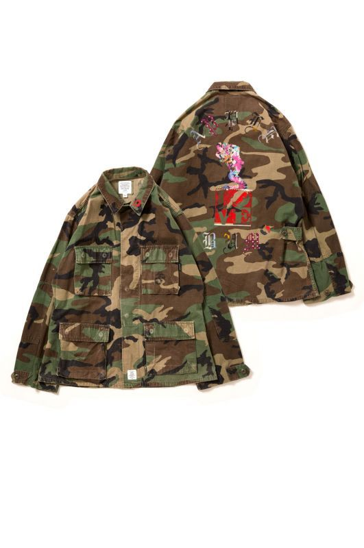 "画像1: 【APPLEBUM】PLAY for APPLEBUM ""SEXy girl"" LOVE Military Camo Jacket (1)"