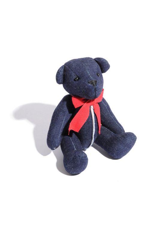 """画像1: 【INTERBREED】Selvedge Supply """"Indigo Teddy Bear"""" (1)"""