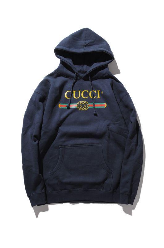 画像1: 【DEADLINE】Cucci Logo Pullover Hoodie