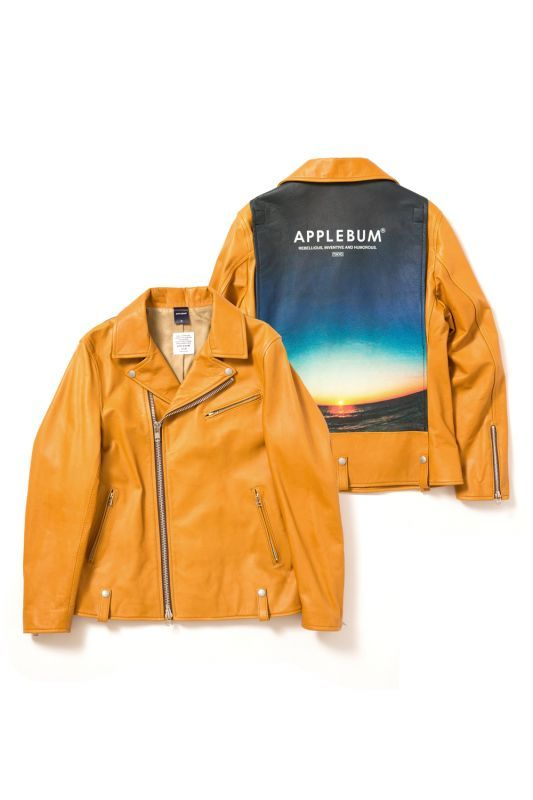 画像1: APPLEBUM / Summer Madness Leather Riders Jacket (1)