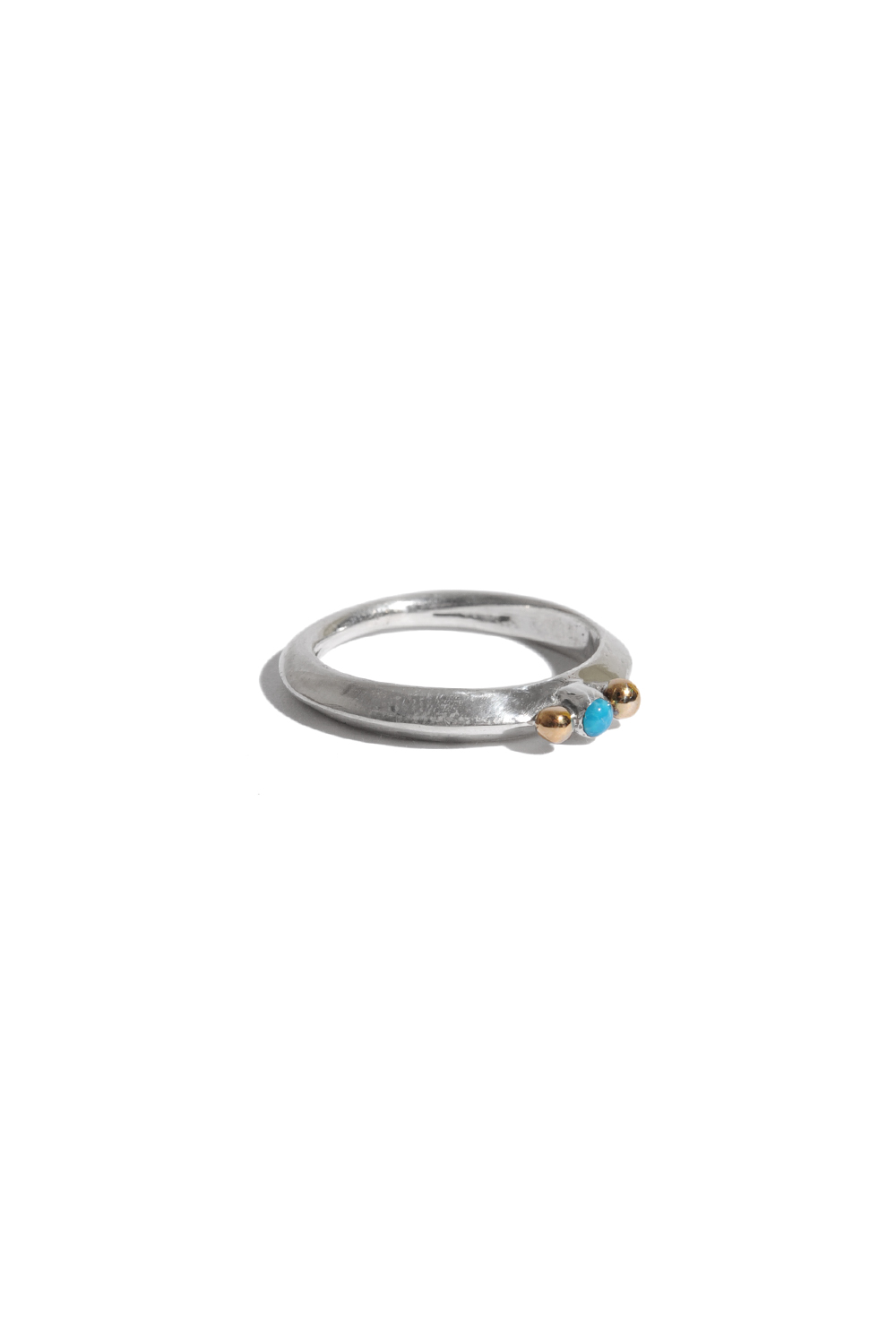 画像1: 【LARRY SMITH】EXTRA THIN TURQUOISE RING 18K POINTED (1)