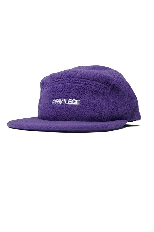 画像1: 【PRIVILEGE】CORE LOGO FLEECE 5PANEL CAP