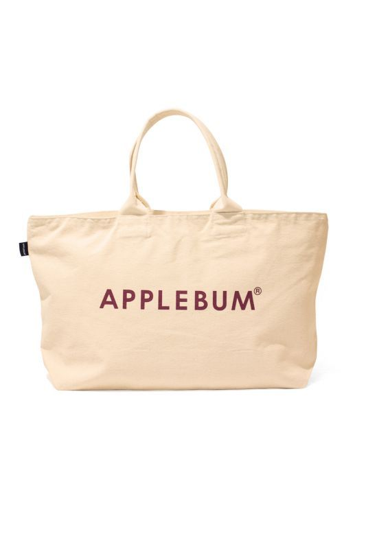 画像1: 【APPLEBUM】Logo Canvas Zip Totebag