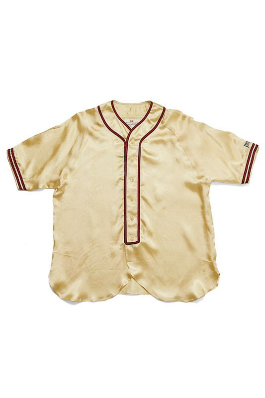 画像1: 【VOTE MAKE NEW CLOTHES】SATIN BASEBALL SHIRTS (1)