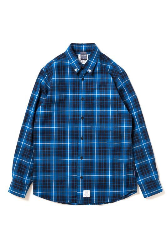 画像1: 【APPLEBUM】Studded Blue Check Shirt (1)