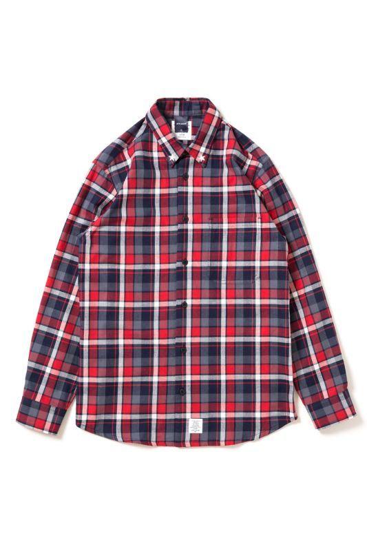 画像1: 【APPLEBUM】Studded Navy Check Shirt (1)